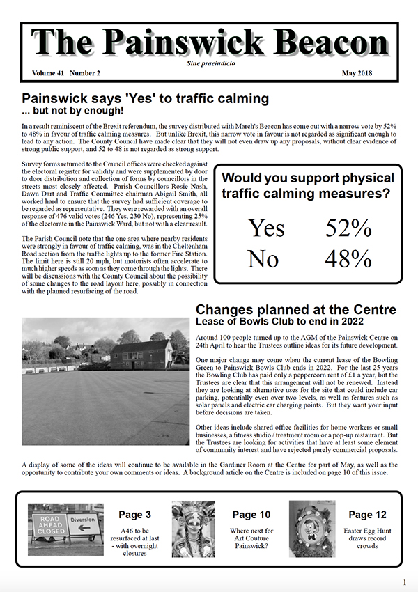 The latest edition of The Painswick Beacon